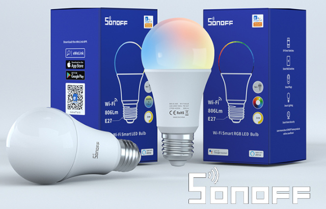 A smart bulb that works with the eWelink app